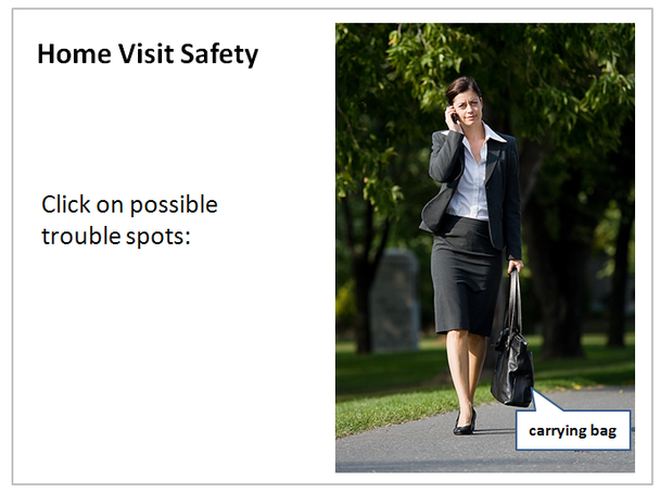 Home Visit Safety: Click on possible trouble spots: