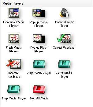 window and available player application icons