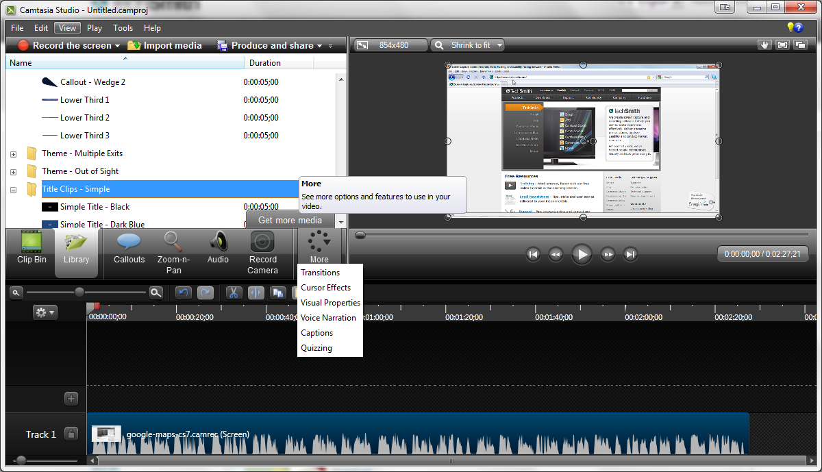 Camtasia free download for pc