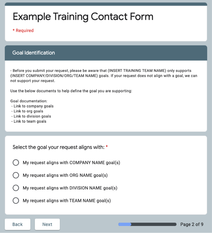 The Learning Transfer Hack Form