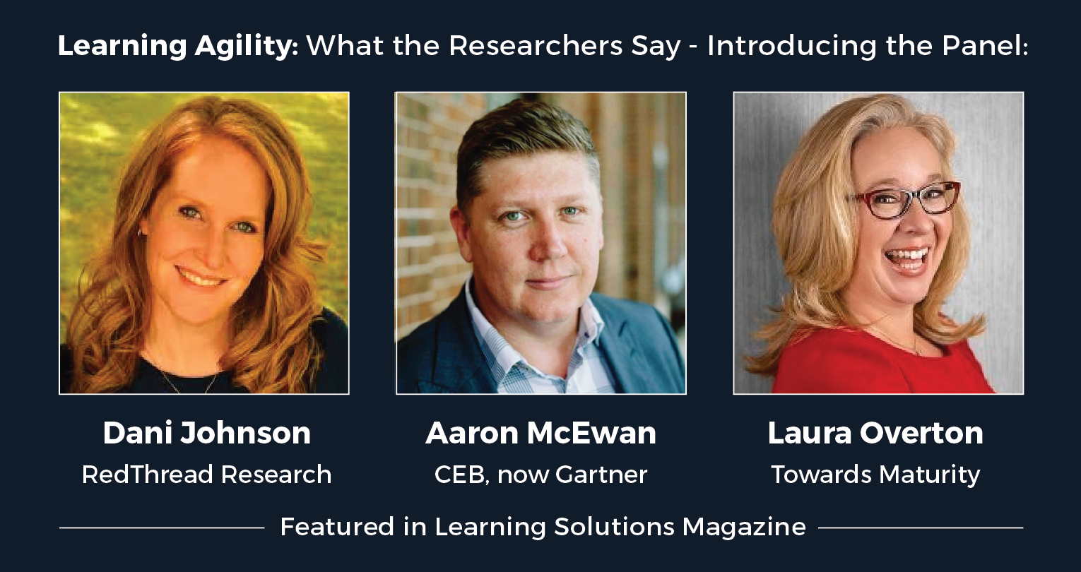 Photos of the members of the learning agility research panel.