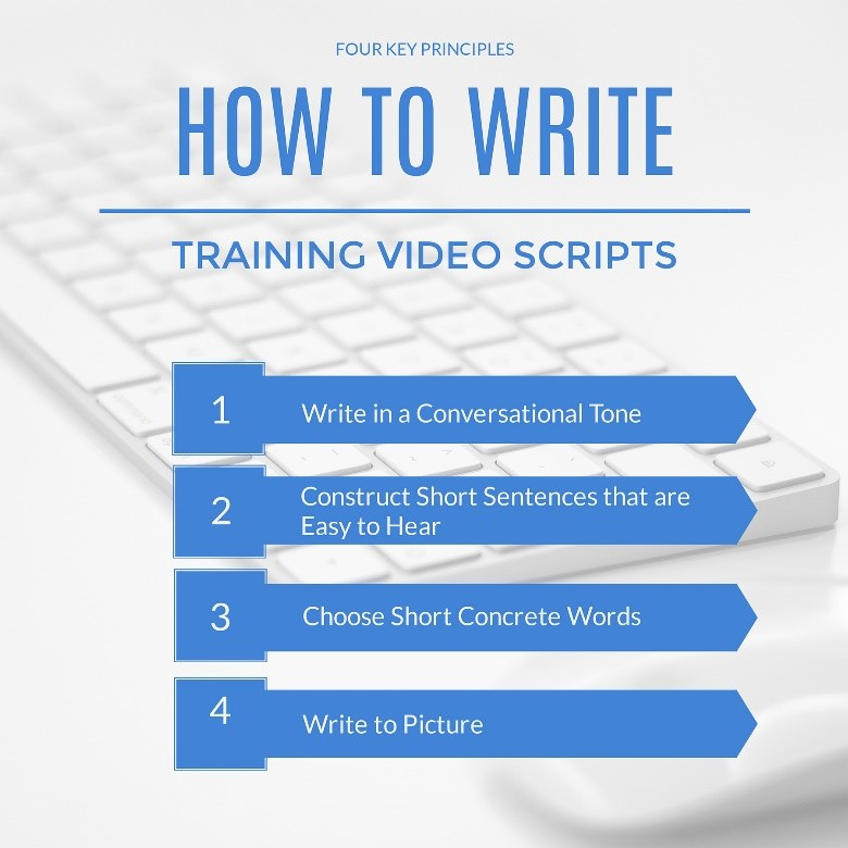 The four principles for writing training video scripts